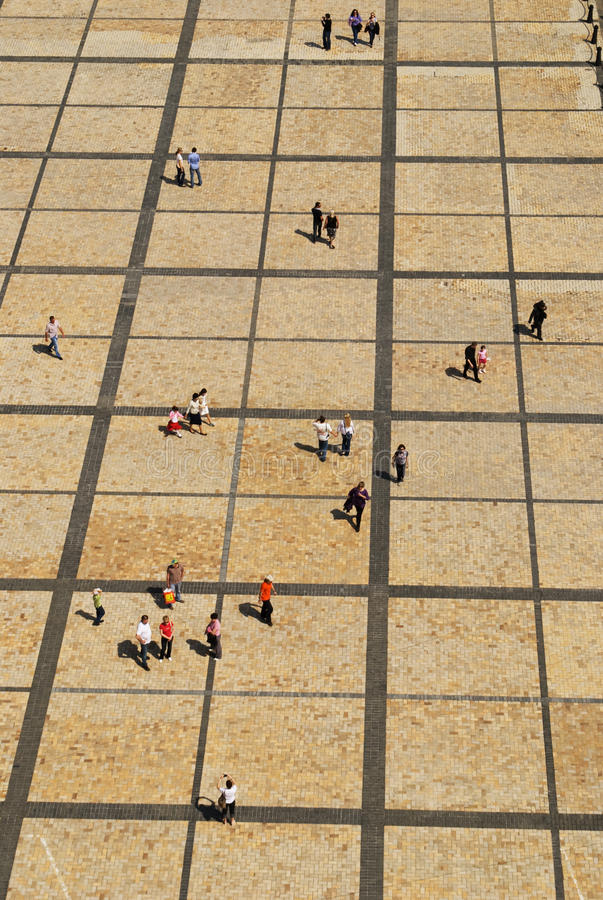 Download Walking crowd stock image. Image of lines, view, crowd - 14282187