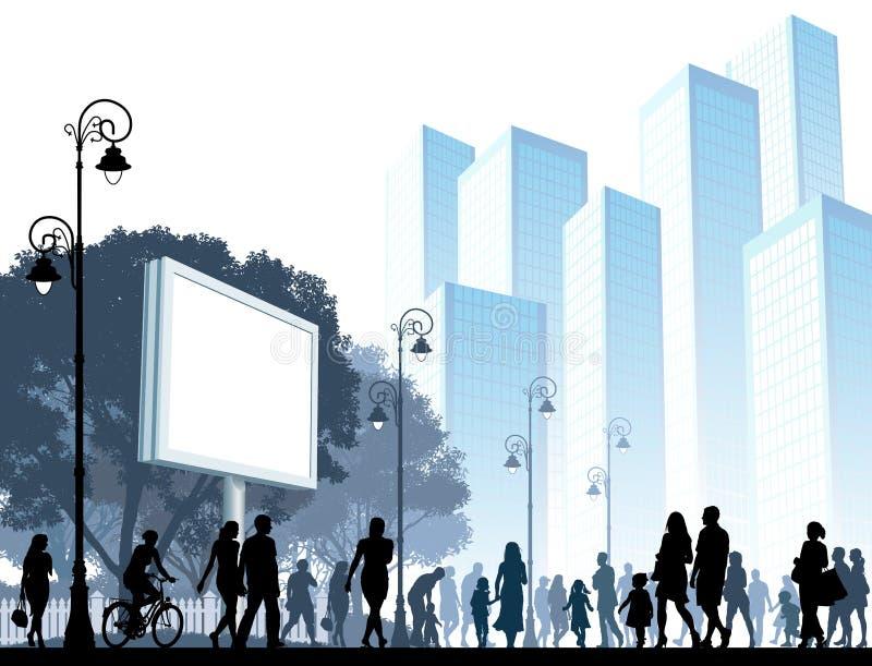 Download Walking Crowd stock vector. Image of color, blue, frame - 24735993