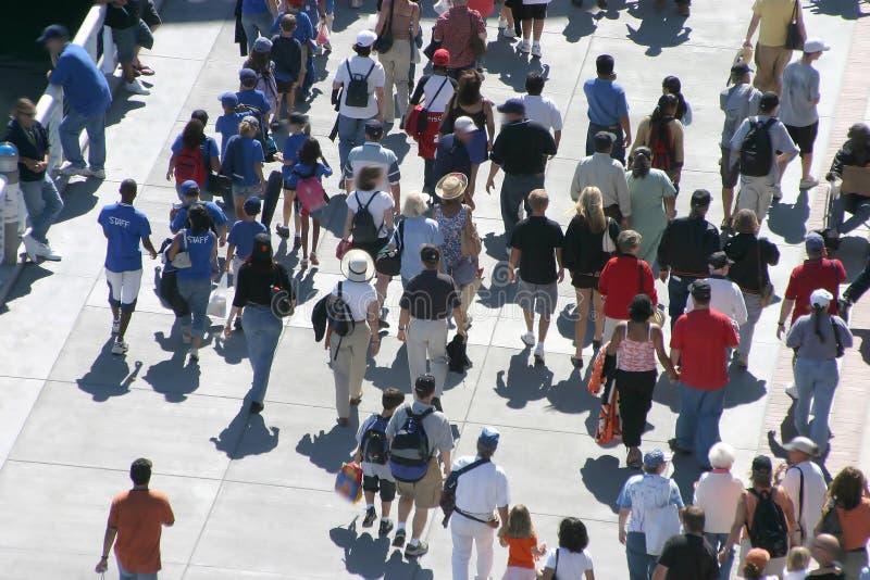 Walking Crowd stock photo