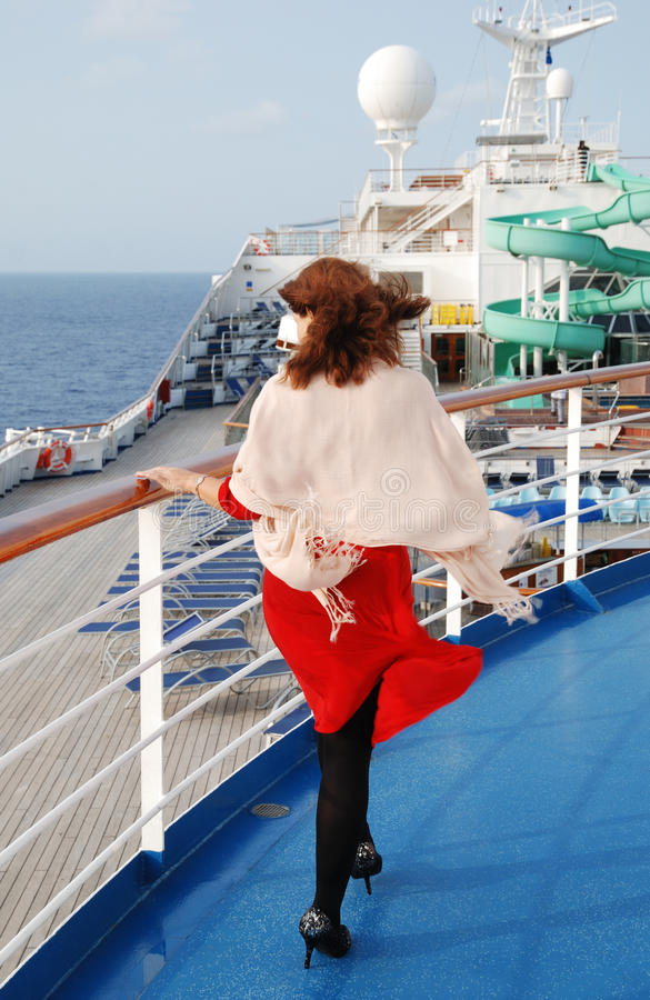 Download Walking on a Deck stock photo. Image of cruise, woman - 25706738