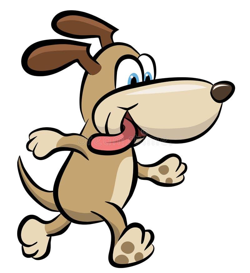Walking dog clipart royalty free illustration
