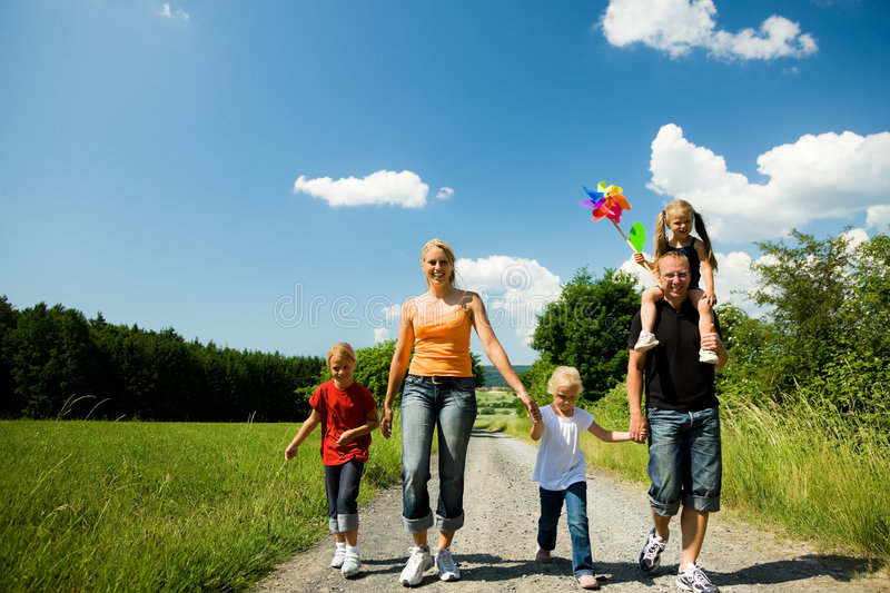 Download Walking down that path stock photo. Image of smile, leisure - 6417526