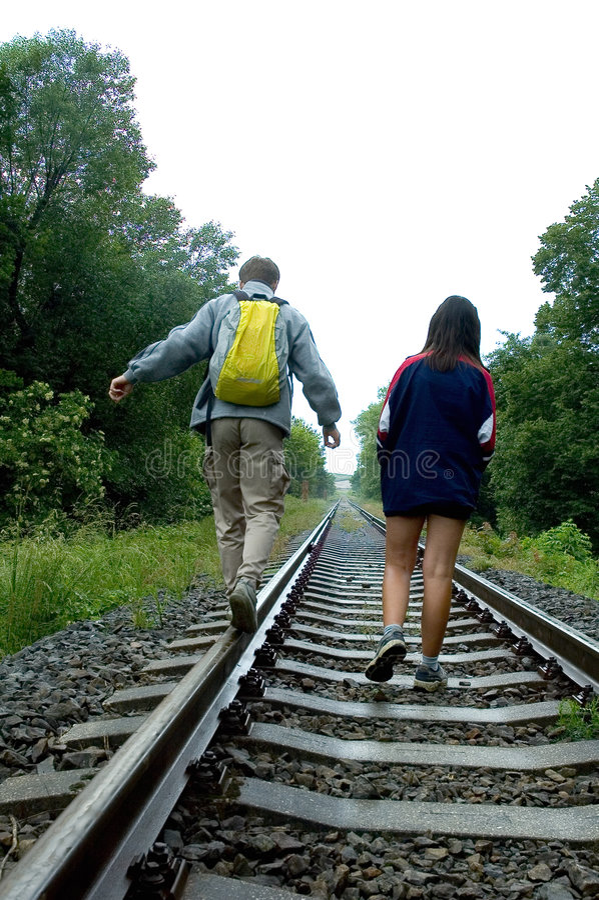 Free Walking Down Tracks 2 Stock Images - 241214