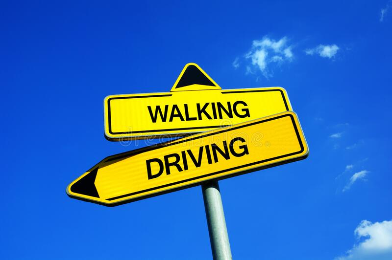 Walking or Driving royalty free stock photography