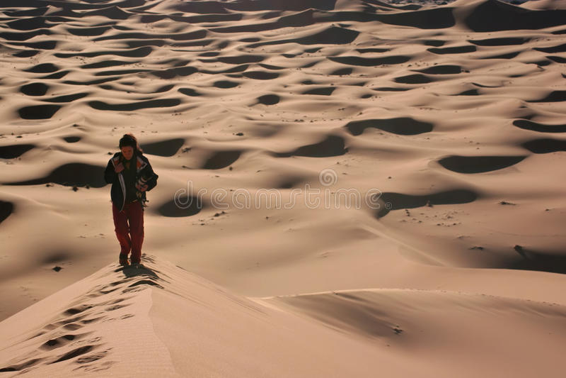 Download Walking on the dunes stock image. Image of prints, land - 11393787