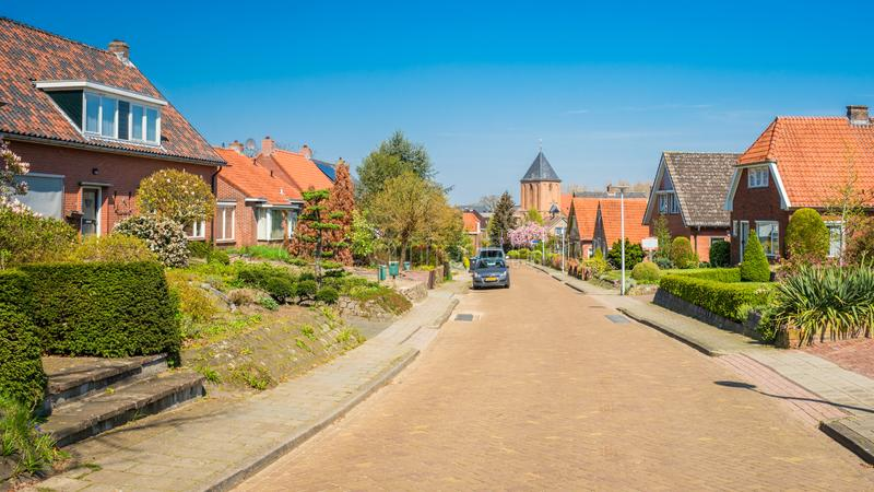 Walking in the Dutch village of Markelo Overijssel, The Netherlands. Making the hiking tour that was chosen as the Dutch Hiking Tour of the Year in the eastern royalty free stock photography