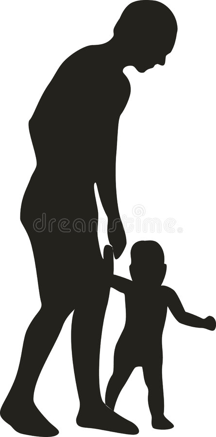 Download Walking Father Stock Image - Image: 9142541