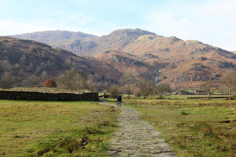 Walking in the Fells. royalty free stock images
