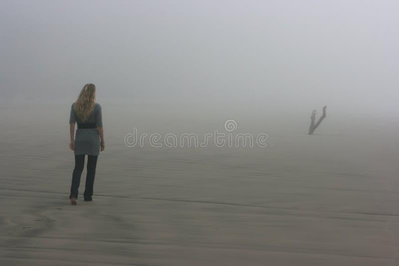 Walking in fog royalty free stock image