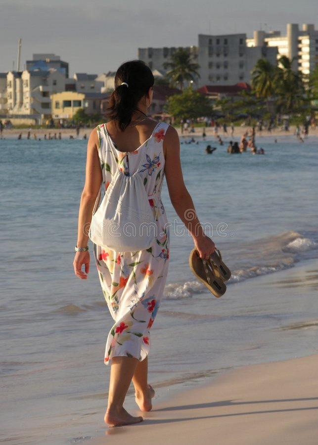 The Walking Girl stock photos