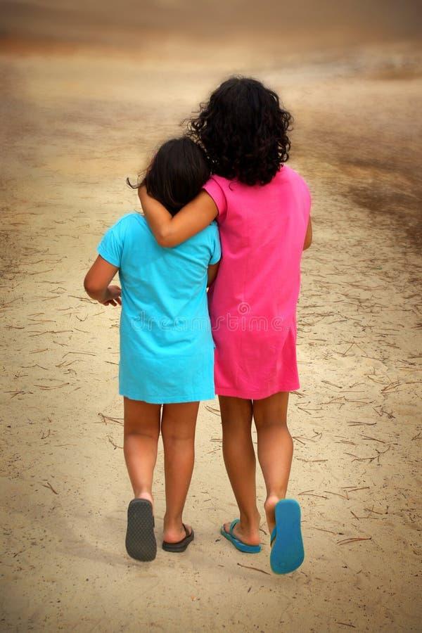 Walking Girls Stock Images