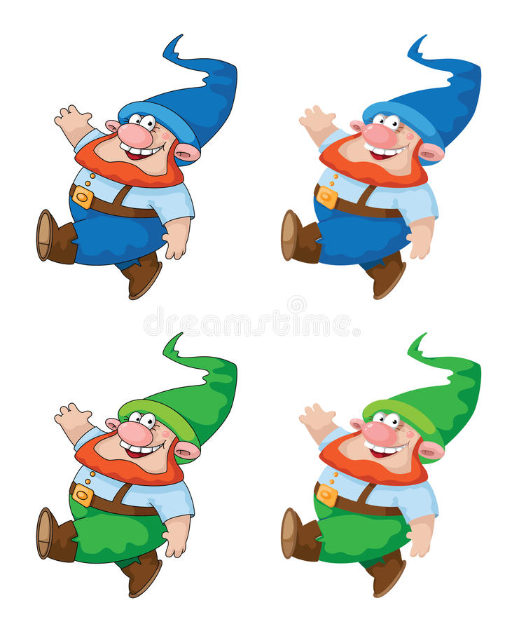 Walking Gnome Royalty Free Stock Images