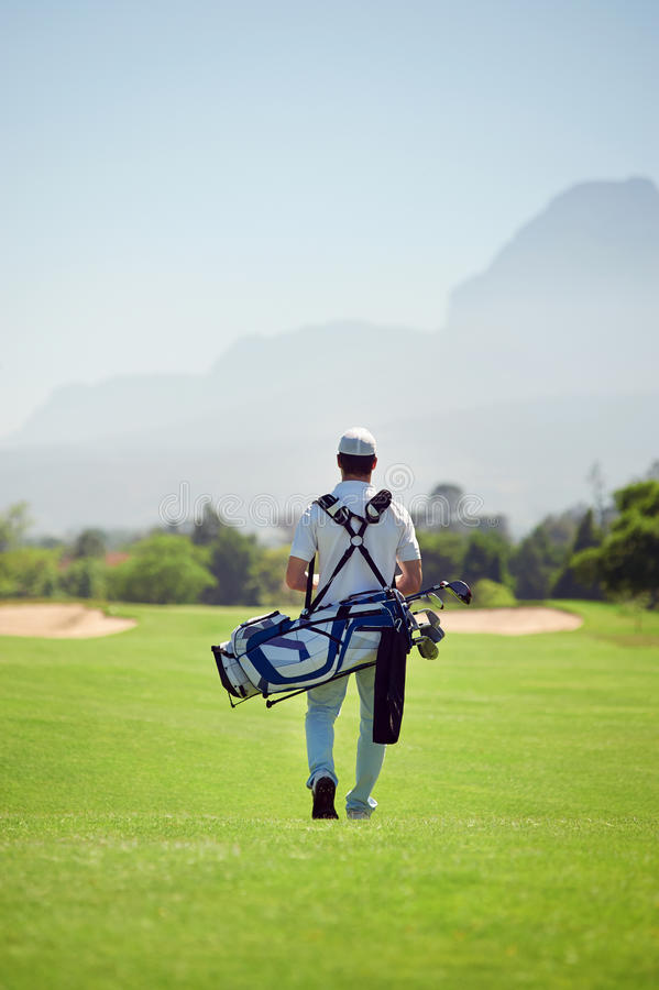 Walking golf course stock photos