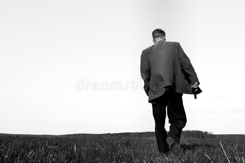 Walking Gunman Stock Images