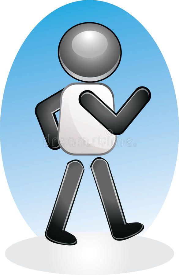 Download Walking Icon stock illustration. Image of person, walker - 14711216
