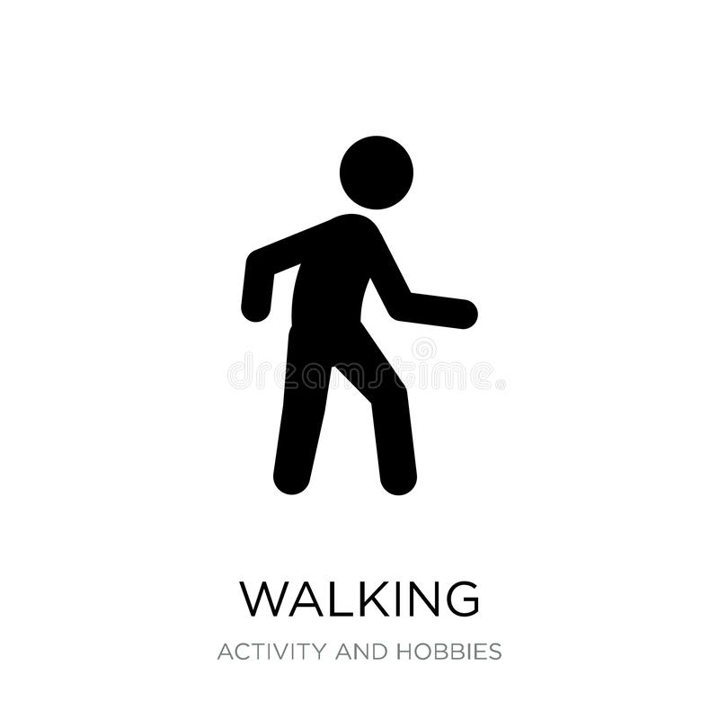 Walking icon in trendy design style. walking icon isolated on white background. walking vector icon simple and modern flat symbol. For web site, mobile, logo vector illustration