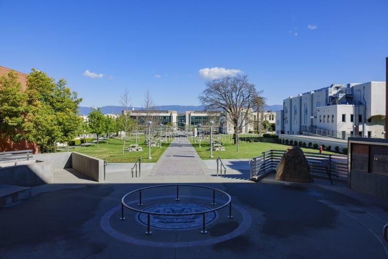 Walking in the Loma Linda University. At Los Angeles, California stock photo