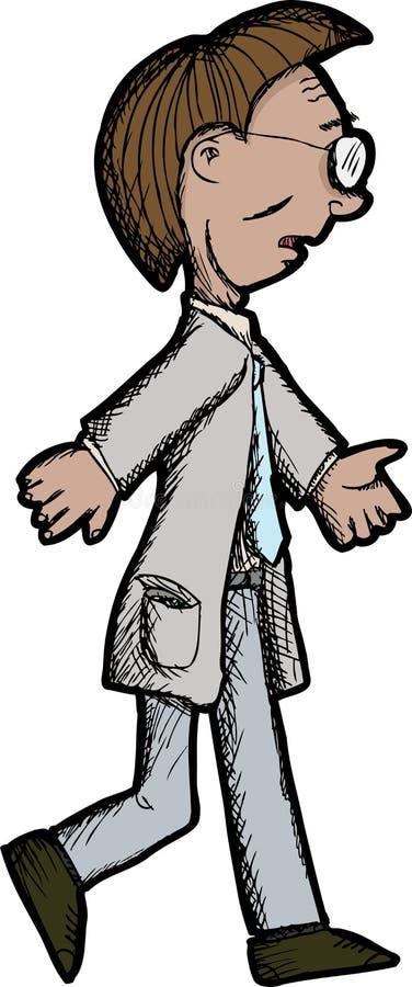 Download Walking Man stock vector. Image of male, walk, necktie - 22352172