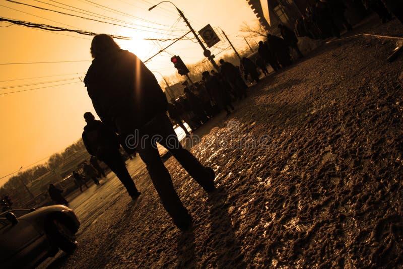 Walking man royalty free stock images