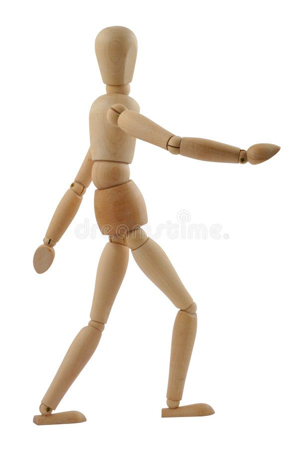 Walking man stock image