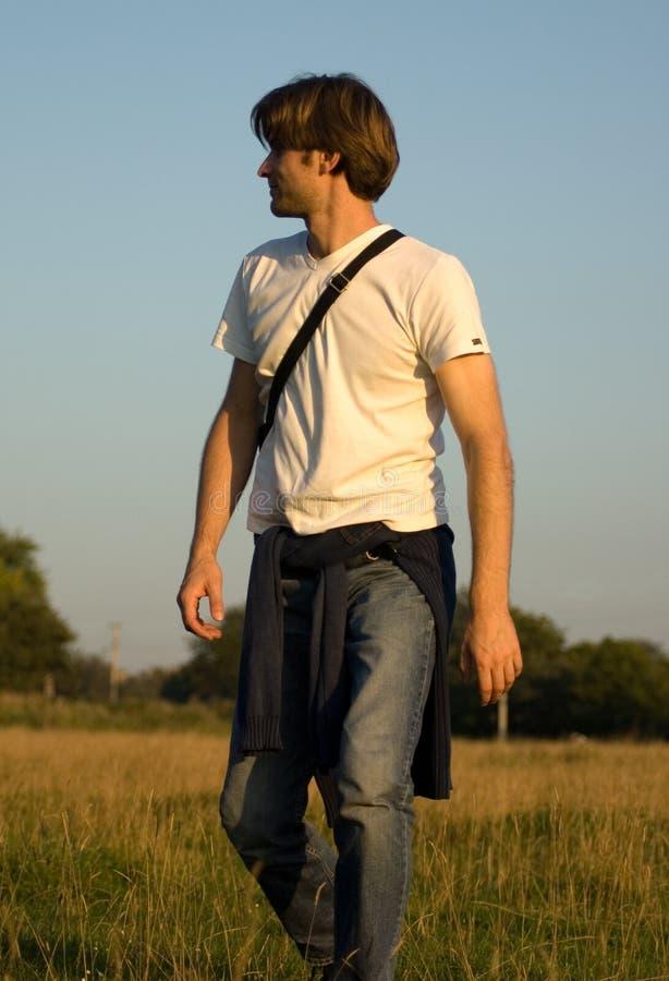 Walking man royalty free stock photography