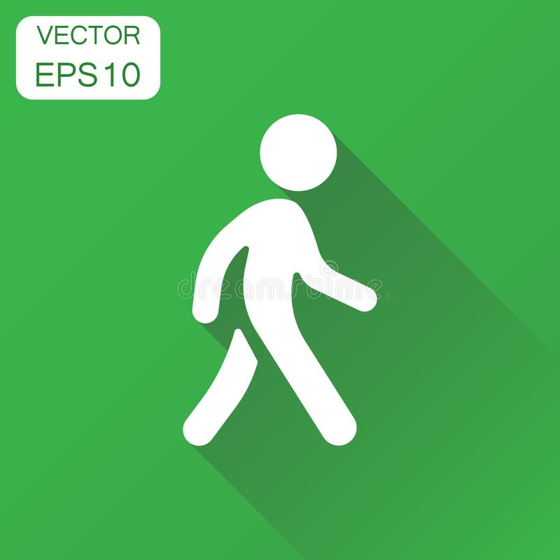 Walking man icon. Business concept people walk sign pictogram. royalty free illustration