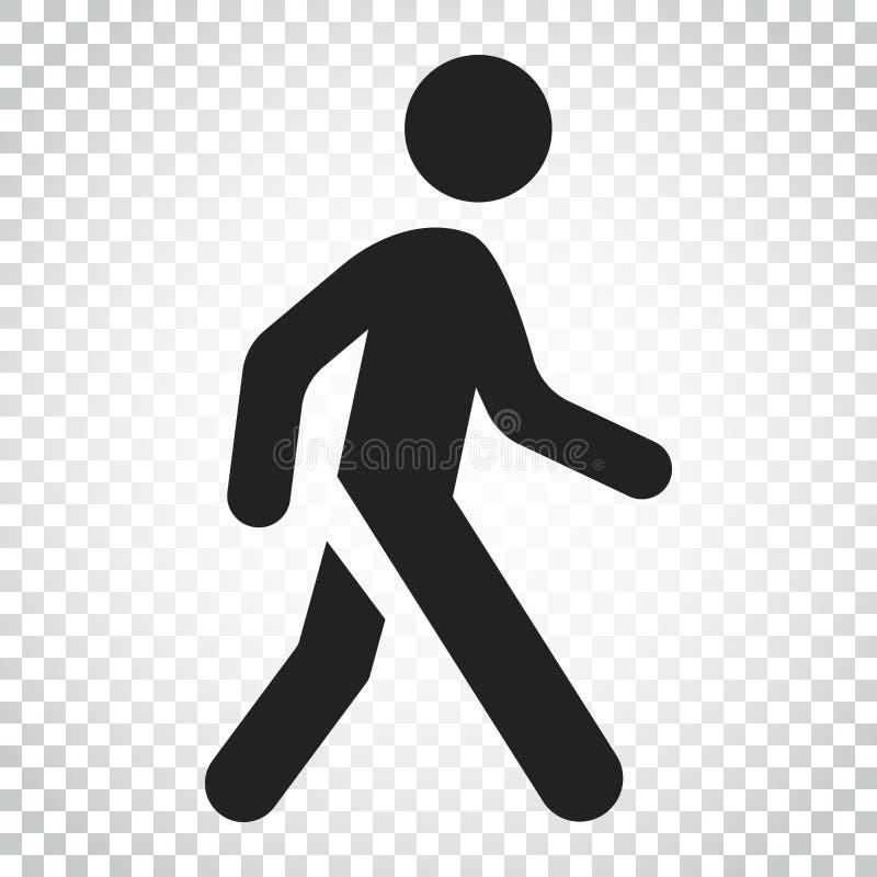 Walking man vector icon. People walk sign illustration. Business stock illustration