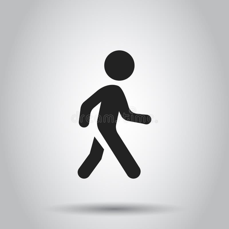 Walking man vector icon. People walk sign illustration. Business royalty free illustration