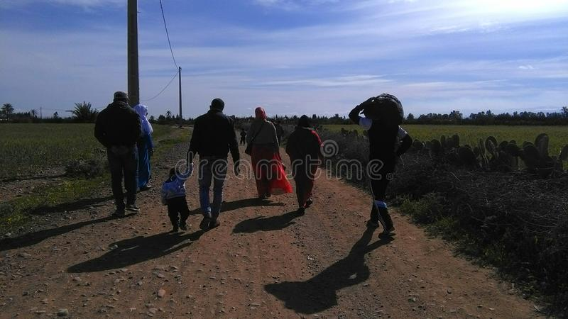 Walking in Morocco royalty free stock photos
