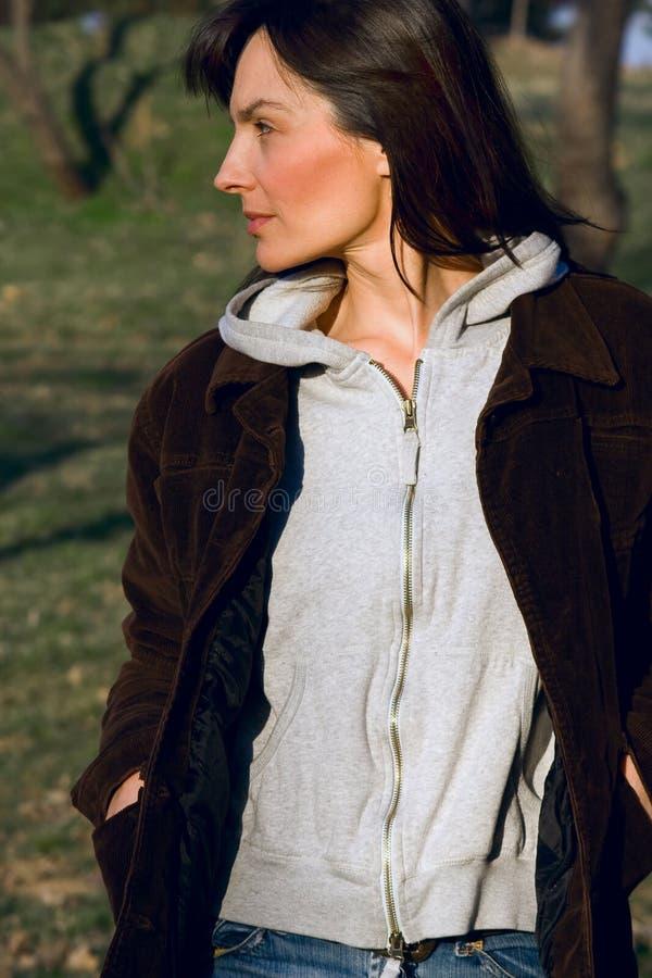 Download Walking in nature stock image. Image of walk, hair, looking - 4211391