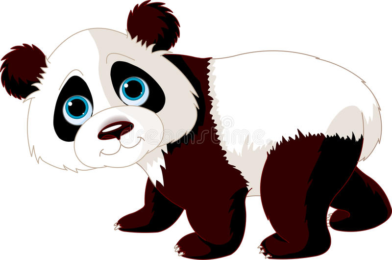 Walking Panda. Very cute walking panda illustration