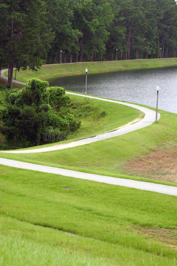 Download Walking Path Around The Lake Stock Photo - Image: 2777756