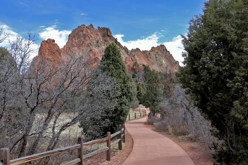 Walking Path at Garden of the Gods stock image