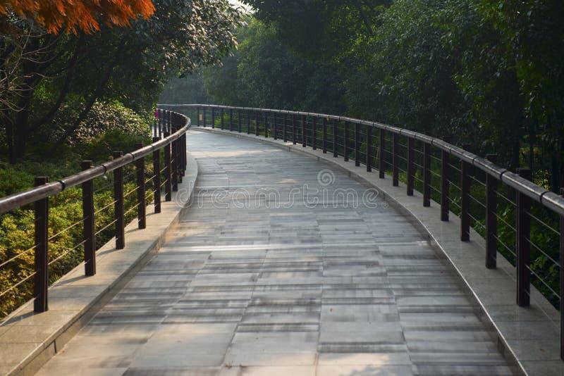 Park walking path royalty free stock photos
