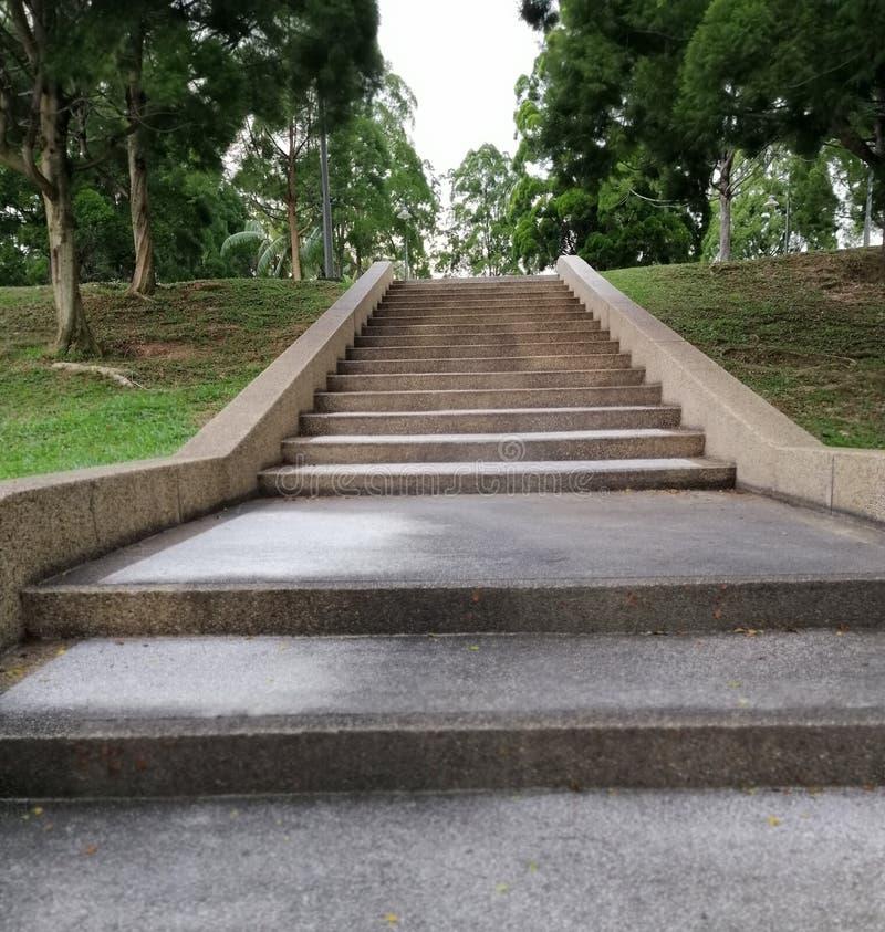 Walking path scenery at Taman Emoangan Park Putrajaya Malaysia royalty free stock photography