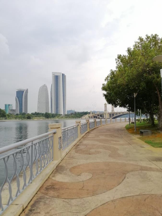 Walking path at Taman Empangan Park, Putrajaya Malaysia royalty free stock photography