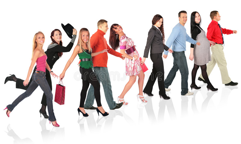 Download Walking people collage stock photo. Image of body, crowd - 7833758