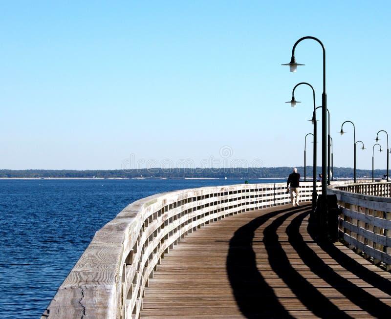 Walking The Pier Free Stock Image