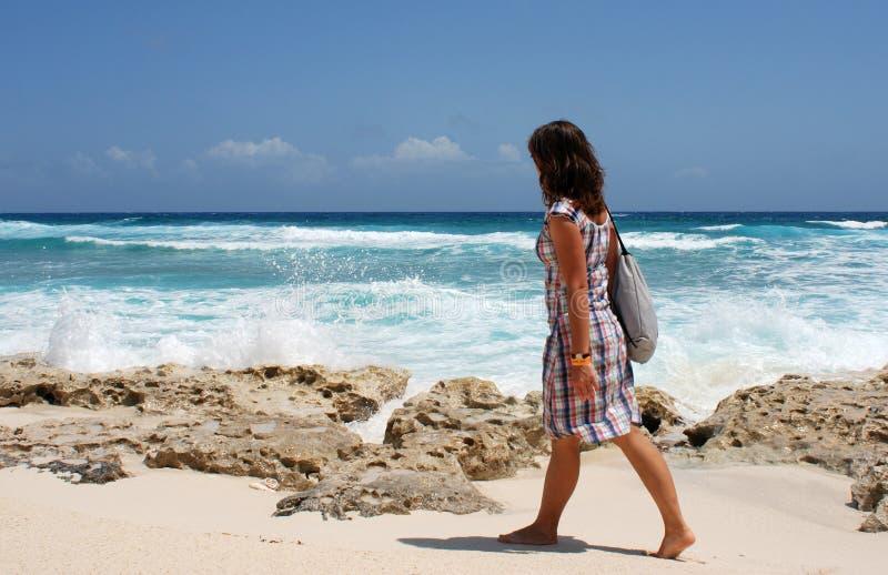 Walking in Punta Sur Eco Park stock images