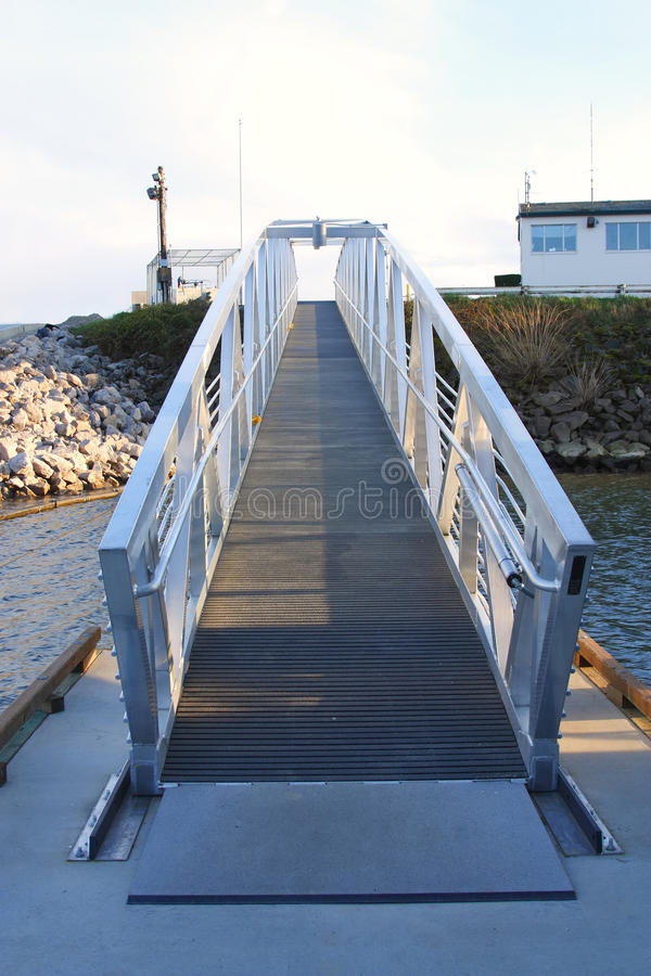 Walking Ramp over water. royalty free stock images