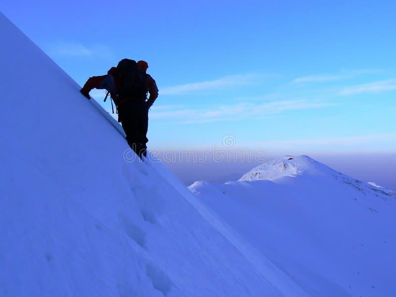 Walking on the ridge royalty free stock photo