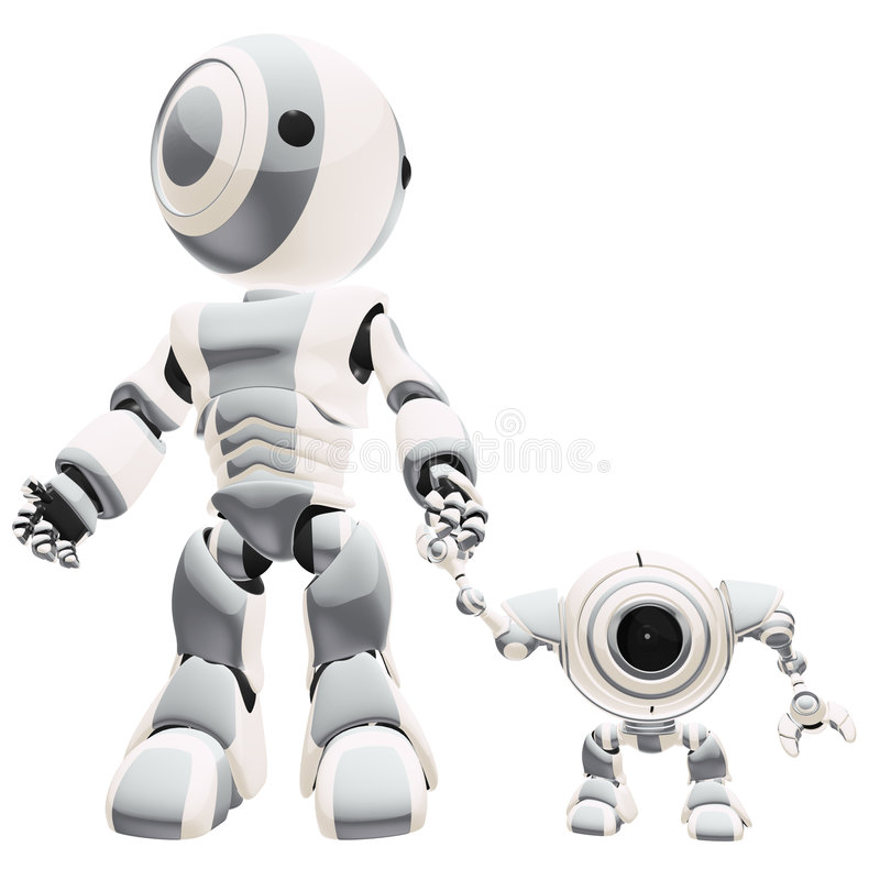 Download Walking Robots Royalty Free Stock Images - Image: 6217369