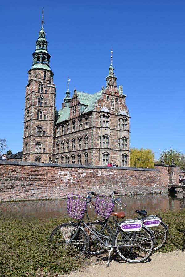 Rosenborg castle in Coepnhaguen. Walking in Rosenborg castle Coepnhaguen royalty free stock image