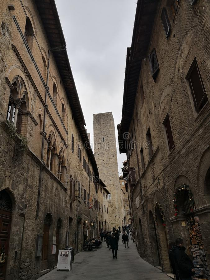 San Gimignano Street royalty free stock photo