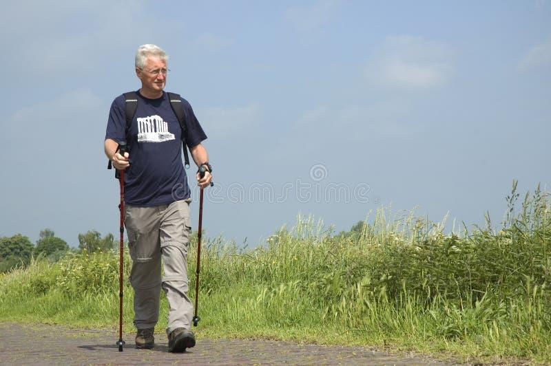 Walking Senior royalty free stock image
