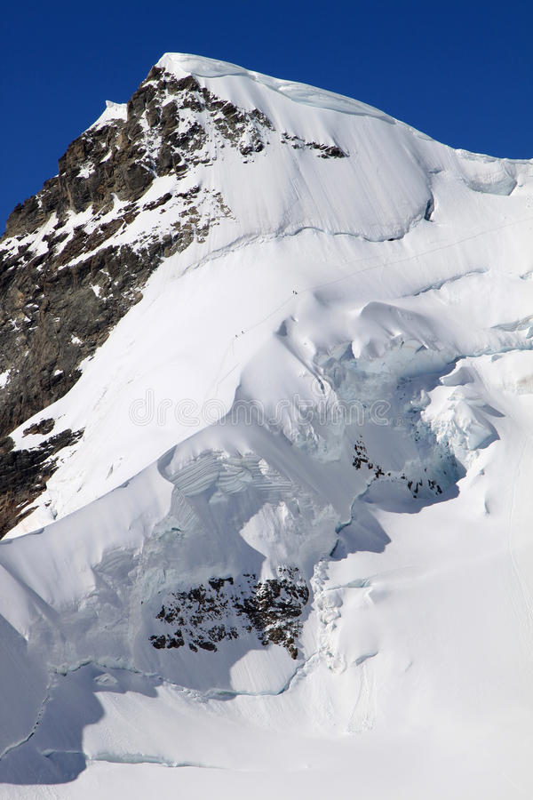 Download Walking In Snow To The Top Of The Swiss Rottalhorn Stock Image - Image of landscape, jungfraujoch: 12130235