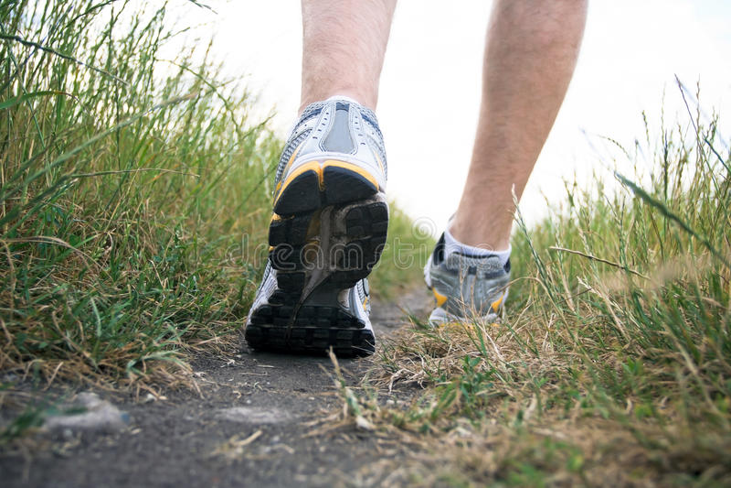 Walking Sports Shoe In Summer Royalty Free Stock Photos
