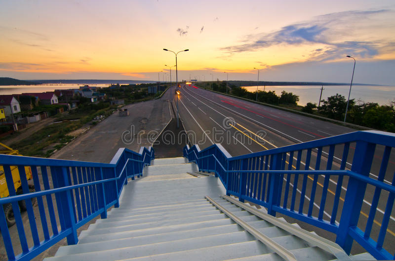 Download Walking Stairs To The Highway Stock Image - Image: 33186469