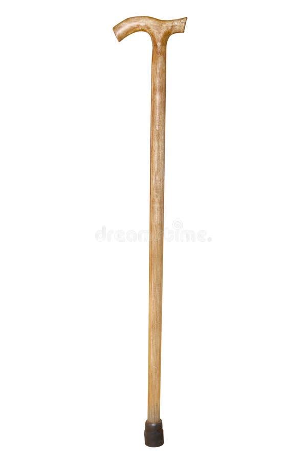 Walking stick. Under thew white background royalty free stock image