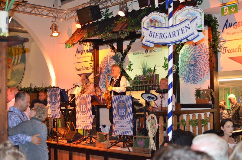 Berlin, Germany - November 03, 2014: Music bar at the beer fest day royalty free stock photos